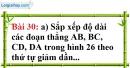 Bài 30 trang 134 Vở bài tập toán 6 tập 1