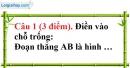 Đề kiểm tra 45 phút chương 1 phần Hình học 6 - Đề số 1