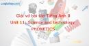 Phonetics - Trang 40 Unit 11 VBT tiếng anh 8 mới