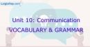 Vocabulary & Grammar - Unit 10 VBT Tiếng Anh 8 mới