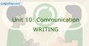 Writing - Unit 10 VBT Tiếng Anh 8 mới