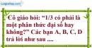 Phần câu hỏi bài 1 trang 45, 46 Vở bài tập toán 8 tập 1