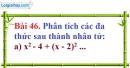 Bài 46 trang 38 Vở bài tập toán 8 tập 1