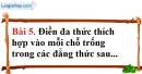 Bài 5 trang 51 Vở bài tập toán 8 tập 1