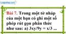 Bài 7 trang 54 Vở bài tập toán 8 tập 1