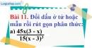 Bài 11 trang 55 Vở bài tập toán 8 tập 1