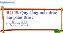 Bài 15 trang 60 Vở bài tập toán 8 tập 1