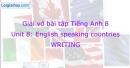 Writing - Unit 8 VBT Tiếng Anh 8 mới
