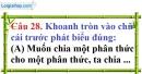 Phần câu hỏi bài 8 trang 76, 77 Vở bài tập toán 8 tập 1