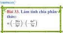 Bài 33 trang 77 Vở bài tập toán 8 tập 1