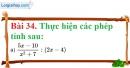 Bài 34 trang 77 Vở bài tập toán 8 tập 1