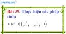 Bài 39 trang 81 Vở bài tập toán 8 tập 1