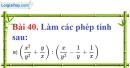 Bài 40 trang 82 Vở bài tập toán 8 tập 1