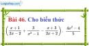 Bài 46 trang 86 Vở bài tập toán 8 tập 1