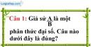 Đề kiểm tra 45 phút chương 2 phần Đại số 8 - Đề số 2