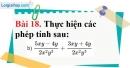 Bài 18 trang 64 Vở bài tập toán 8 tập 1
