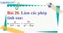 Bài 20 trang 65 Vở bài tập toán 8 tập 1