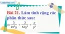 Bài 21 trang 66 Vở bài tập toán 8 tập 1