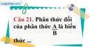Phần câu hỏi bài 6 trang 69 Vở bài tập toán 8 tập 1