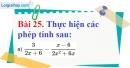 Bài 25 trang 71 Vở bài tập toán 8 tập 1