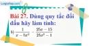 Bài 27 trang 72 Vở bài tập toán 8 tập 1