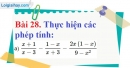 Bài 28 trang 72 Vở bài tập toán 8 tập 1
