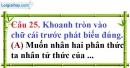 Phần câu hỏi bài 7 trang 74 Vở bài tập toán 8 tập 1