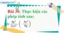 Bài 30 trang 75 Vở bài tập toán 8 tập 1
