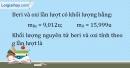 Bài 1.1 trang 3 SBT Hóa học 10