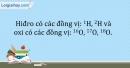 Bài 2.12 trang 7 SBT Hóa học 10