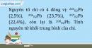 Bài 2.17 trang 8 SBT Hóa học 10