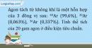 Bài 2.18 trang 8 SBT Hóa học 10