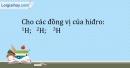Bài 2.6 trang 6 SBT Hóa học 10