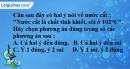Bài 2.7 trang 4 SBT Hóa học 8