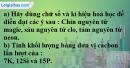Bài 5.4 trang 7 SBT hóa học 8