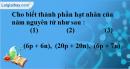 Bài 5.8* trang 7 SBT hóa học 8