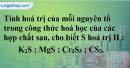 Bài 10.4 trang 14 SBT hóa học 8