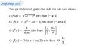 Bài 1.34 trang 21 SBT giải tích 12