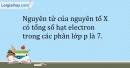 Bài 4.15 trang 11 SBT Hóa học 10
