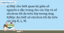 Bài 4.11 trang 11 SBT Hóa học 10