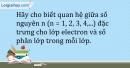 Bài 4.8 trang 10 SBT Hóa học 10