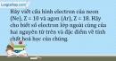Bài 5.11 trang 13 SBT Hóa học 10