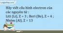 Bài 5.12 trang 13 SBT Hóa học 10