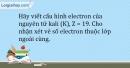 Bài 5.17 trang 14 SBT Hóa học 10