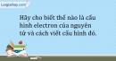 Bài 5.9 trang 13 SBT Hóa học 10