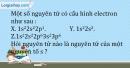 Bài 6.6 trang 15 SBT Hóa học 10