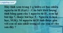 Bài 8.3* trang 10 SBT hóa học 8