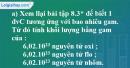 Bài 8.9* trang 11 SBT hóa học 8