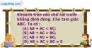 Phần câu hỏi bài 3 trang 72 Vở bài tập toán 7 tập 2