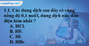 Bài 1.1, 1.2 trang 3 SBT hóa học 11
